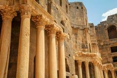 Römisches Amphitheater Bosra - Syrien lizenzfreie stockfotos