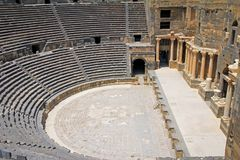 Römisches Amphitheater Bosra - Syrien stockbild