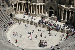 Römisches Amphitheater, Bosra, Syrien Lizenzfreies Stockfoto