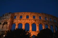 Römisches Amphitheater in den Pula, Kroatien stockbild