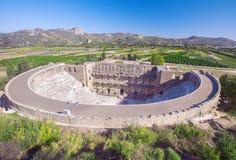 Römisches Amphitheater von Aspendos, Belkiz, Antalya, die Türkei stockbild