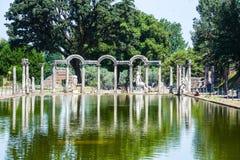Römisches Archäologielandhaus-Adriana-tivoli Lizenzfreies Stockbild