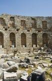 Römisches Bad in Perga stockbilder