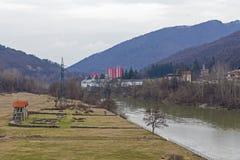 Römisches castrum Arutela und der alte Fluss Lizenzfreie Stockfotografie
