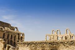 Römisches Colosseum in Tunesien Stockbilder