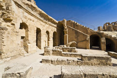 Römisches Colosseum in Tunesien Stockbild