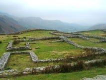 Römisches Fort am Hardknot Durchlauf, Großbritannien. Lizenzfreie Stockfotografie
