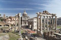 Römisches Forum Rom Lizenzfreie Stockfotos