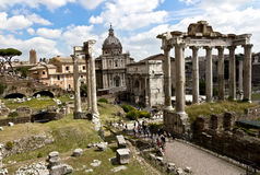 Römisches Forum in Rom Stockfoto