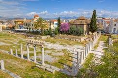 Römisches Forum und Fethiye Moschee, Athen, Griechenland Stockfotos