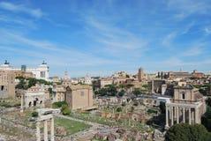 Römisches Forum und palatino in Rom in Lazio in Italien Stockfotos