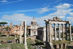 Römisches Forum und palatino in Rom in Lazio in Italien Stockfoto
