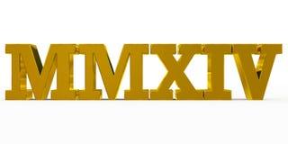 Römisches Goldenes des Jahres 2014 lizenzfreie abbildung