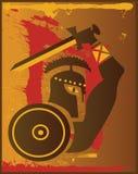 Römisches Krieger-Blutvergießen Stockfotos