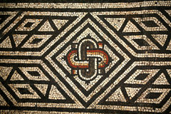 Römisches Mosaik Abstact Muster lizenzfreie abbildung