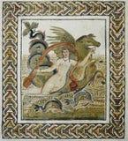 Römisches Mosaik der Abduktion von Europa Stockbilder
