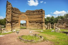 Römisches Ruinen Landhaus Adriana in Tivoli Rom - Lazio - Italien stockfotos