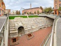 Römisches Stadion und Moschee Plowdiws Stockbilder