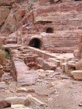 Römisches Theater in PETRA Stockfoto