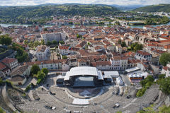 Römisches Theater von Vienne Lizenzfreie Stockfotos