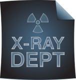 Röntgenstråleavdelnings-ritning med utstrålningssymbol Royaltyfri Foto