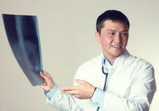 Röntgenstrålediskussion Arkivfoto