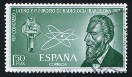 Röntgenstrålerör och atom arkivfoto