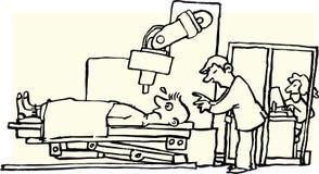 röntgenstraal stock illustratie
