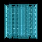 Röntgenstraal Modelvloer van flatblok Royalty-vrije Stock Afbeelding