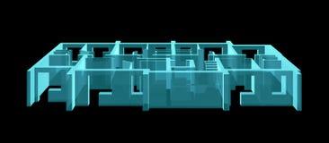 Röntgenstraal Modelvloer van flatblok Royalty-vrije Stock Foto's