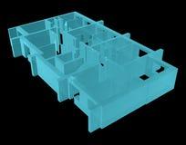 Röntgenstraal Modelvloer van flatblok Stock Foto's