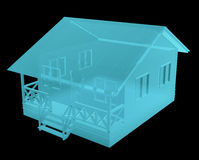 Röntgenstraalbeeld van Plattelandshuisje Stock Foto's