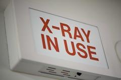 Röntgenstrahl-Zeichen Stockbild
