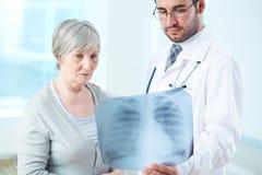 Röntgenstrahlergebnisse Stockbilder