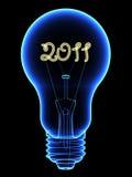 Röntgenstrahlglühlampe mit nach innen funkeln 2011 Digits stock abbildung