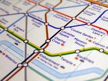 Röröversikt av den London tunnelbanan Royaltyfria Foton