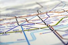 Röröversikt av den London tunnelbanan Royaltyfri Foto