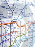 Röröversikt av den London tunnelbanan Fotografering för Bildbyråer