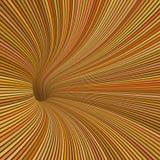 rör för tunnel 3d i färger för orange guling Royaltyfri Fotografi