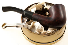 Rör med tobak Arkivfoton