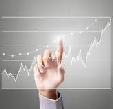 Röra graf för affärsman Royaltyfri Fotografi
