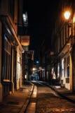Röra på natten i York, Yorkshire, England UK Arkivfoto