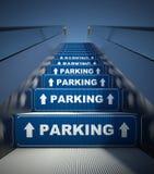 Röra rulltrappatrappa till att parkera, begrepp royaltyfri bild