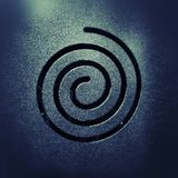 Röra sig i spiral bakgrund Arkivfoto
