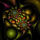 röra sig i spiral för klickplast- Royaltyfri Fotografi