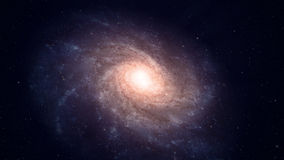 Röra sig i spiral galaxen Royaltyfri Bild