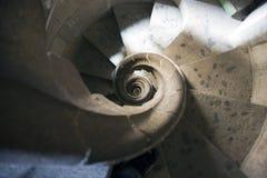 röra sig i spiral trappa Fotografering för Bildbyråer