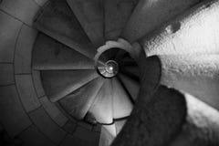 röra sig i spiral trappa Royaltyfria Bilder