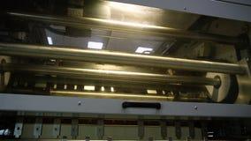 Rörande del av tryckmaskinen stock video