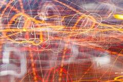 Rörande färgrika linjer Fotografering för Bildbyråer